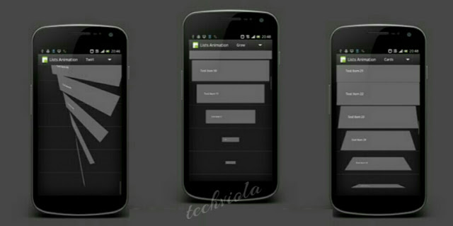 techviola listview animation