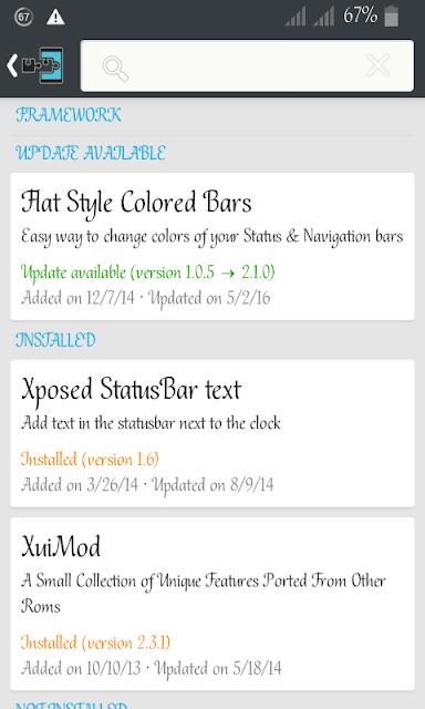 Xposed Statusbar text