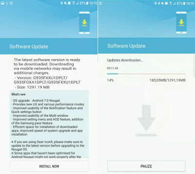 Samsung Galaxy S7 Official Android 7.0 Nougat Firmware Update