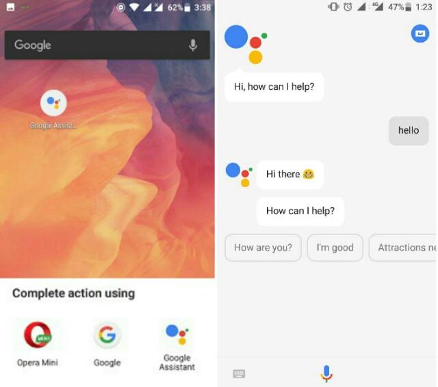 Google Assistant working on lollipop device