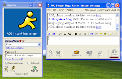 AOL Instant Messenger user interface