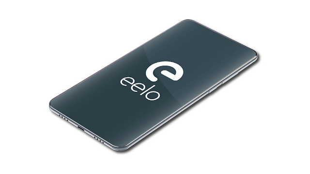 A smartphone with eelo written on it.