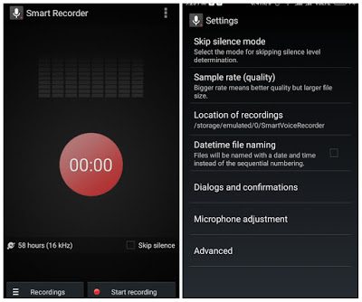 Smart Voice Recorder  User Interface