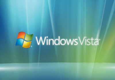 Windows icon along with windows vista in writing.