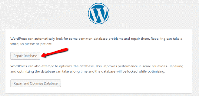 wordpress repair database connection error