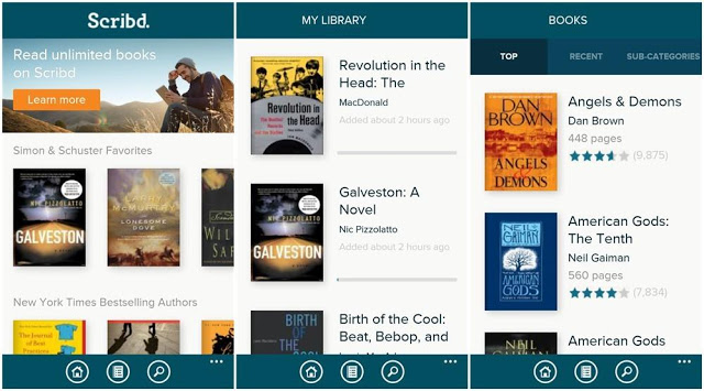 scribd reading books android screenshots