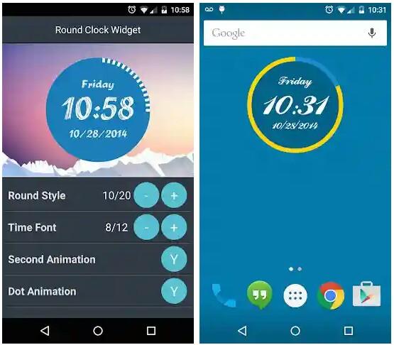 round-clock-widget