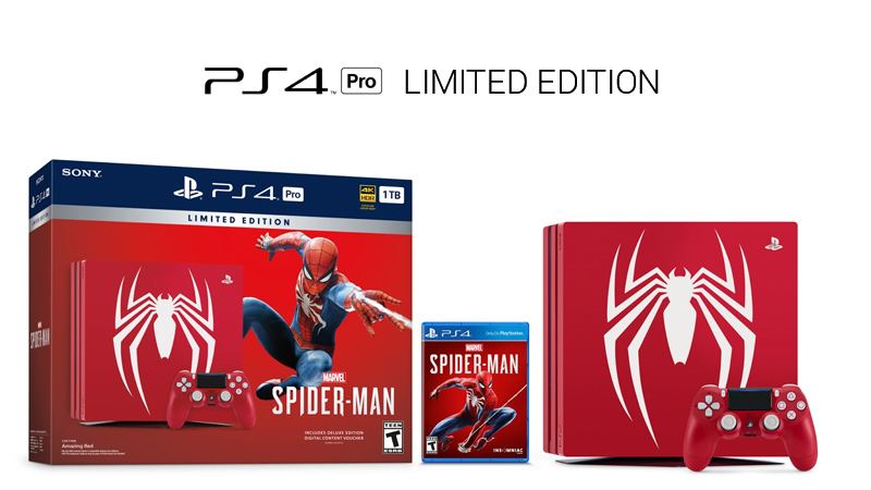 PS4 Pro marvel spiderman limited edition