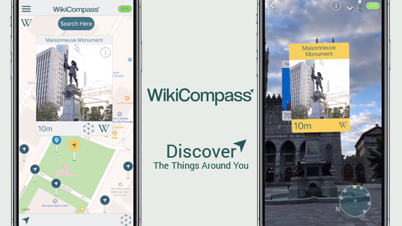 wikicompass augmented reality wikipedia
