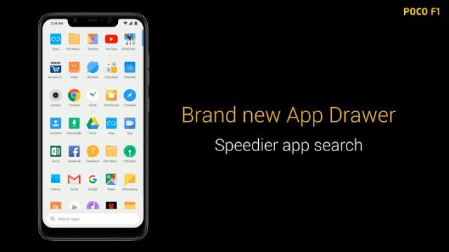 POCO Launcher App Drawer