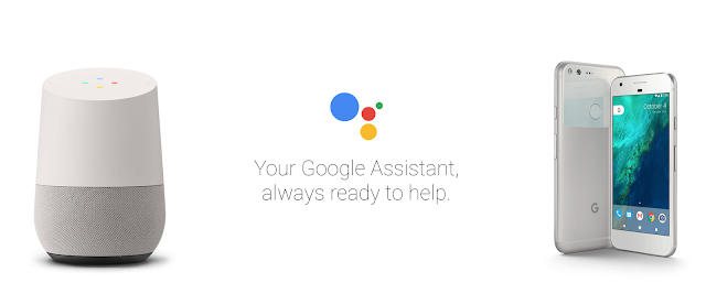 Pictorial representation of a Google Assistant connecting Google home with Google Pixel.