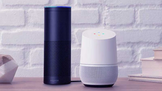 Amazon echo and Google home is the same picture