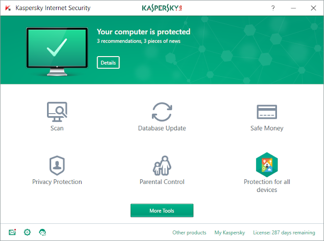 kaspersky antivirus screenshot in top 5 antivirus software
